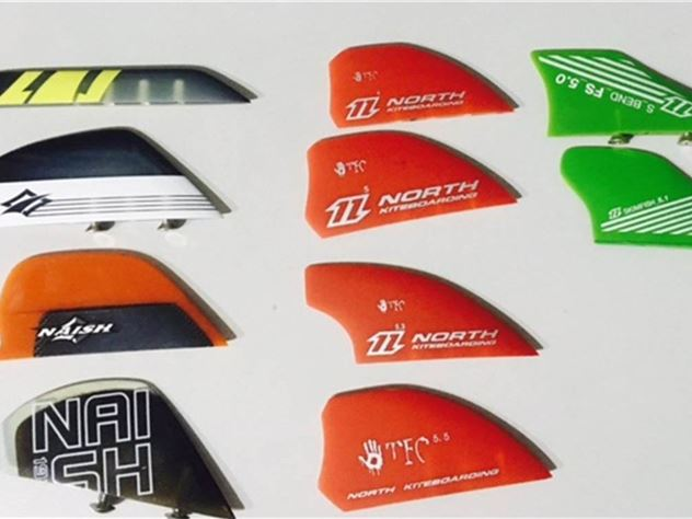 Naish And North Twin Tip Fins